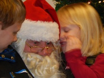 Santa and kids 2013